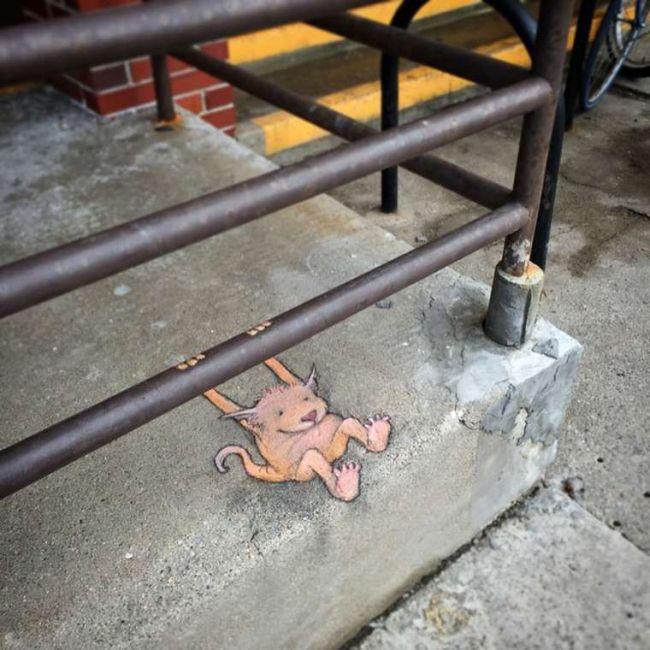 Street Artist David Zinn Gives Pokemon Go A Run For Its Money