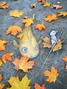 Street Artist David Zinn Gives Pokemon Go A Run For Its Money