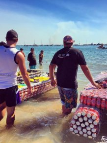 Every Year People In Australia Race Boats Made Of Beer Cans