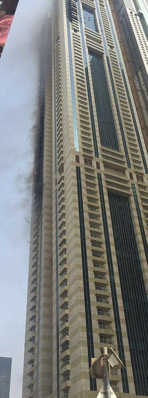 Massive Fire Breaks Out In A 75 Story Building In Dubai