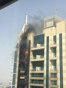 Massive Fire Breaks Out In A 75 Story Building In Dubai
