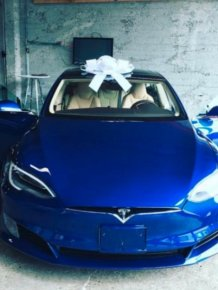 Employees Buy A Tesla Model S For Their Boss To Say Thanks