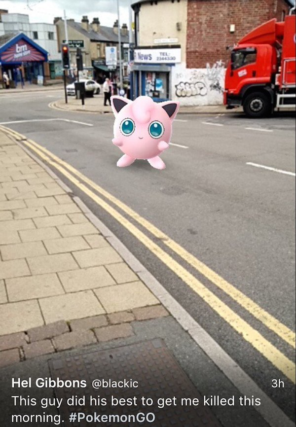 Pokemon are showing up at the most inappropriate times