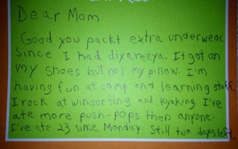 Boy Writes Adorable Letters To His Mom From Camp