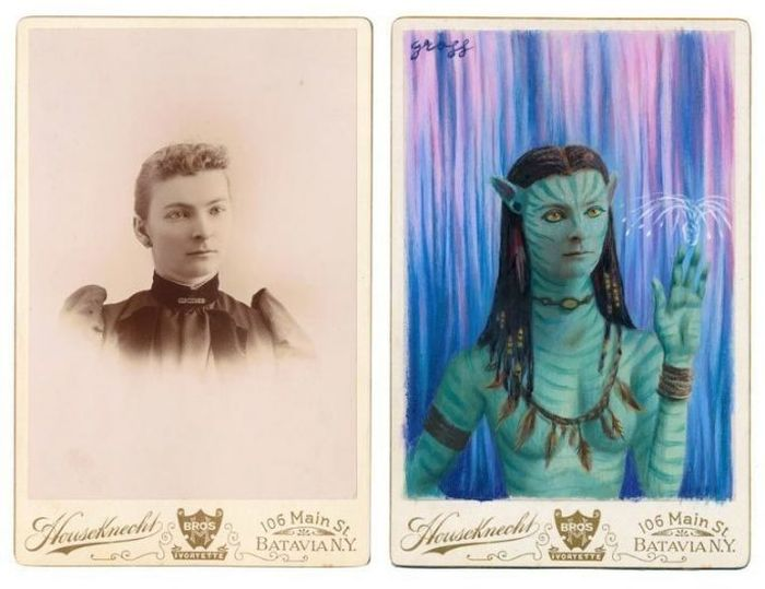 Artist Turns People In Vintage Pictures Into Epic Looking Superheroes