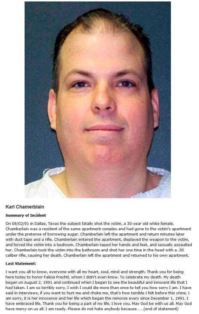 Chilling Last Words Of Death Row Inmates Revealed   Others
