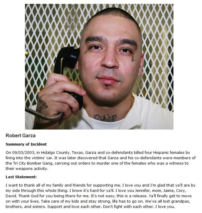 Chilling Last Words Of Death Row Inmates Revealed