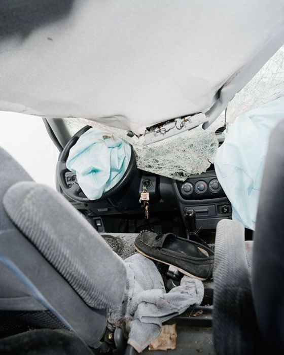 What The Inside Of A Car Looks Like After An Accident