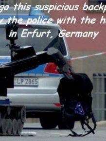German Robot Investigates A Suspicious Backpack