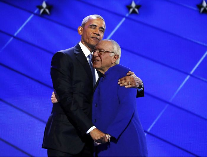 The Internet Turned Barack Obama's Embrace With Hillary Clinton Into A Hilarious Meme