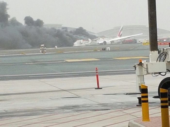 Emirates Airline Flight Crash Lands In Dubai After Catching Fire In The Air