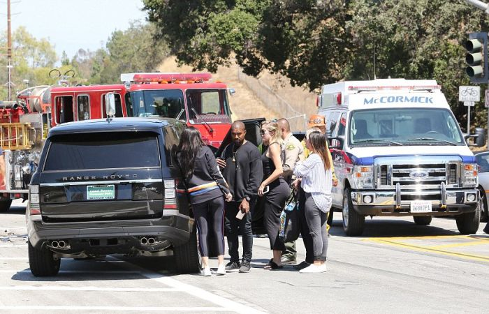 Kanye West And Kylie Jenner Rush To Check On Kris Jenner After She's Hit By A Car