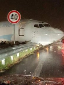 Cargo Plane Overshoots Runway And Crashes Into A Road In Italy