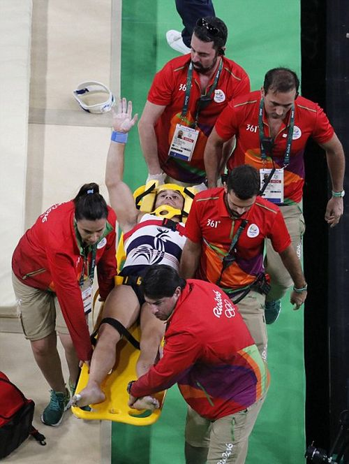 French Gymnast Breaks Leg During Vault Gone Wrong At The Olympics