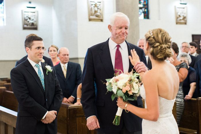 Bride Asks Man With Her Father's Heart To Walk Her Down The Aisle
