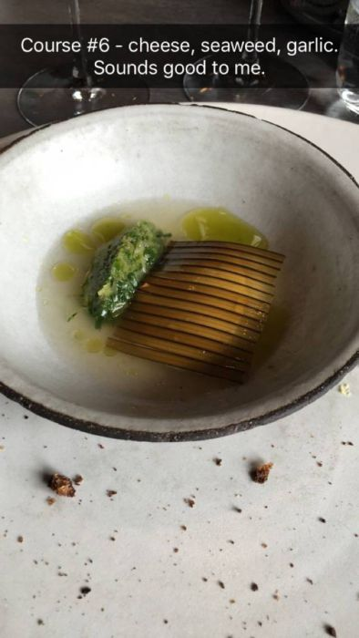 Regular Person Snapchats Their Experience At A Michelin Starred Restaurant