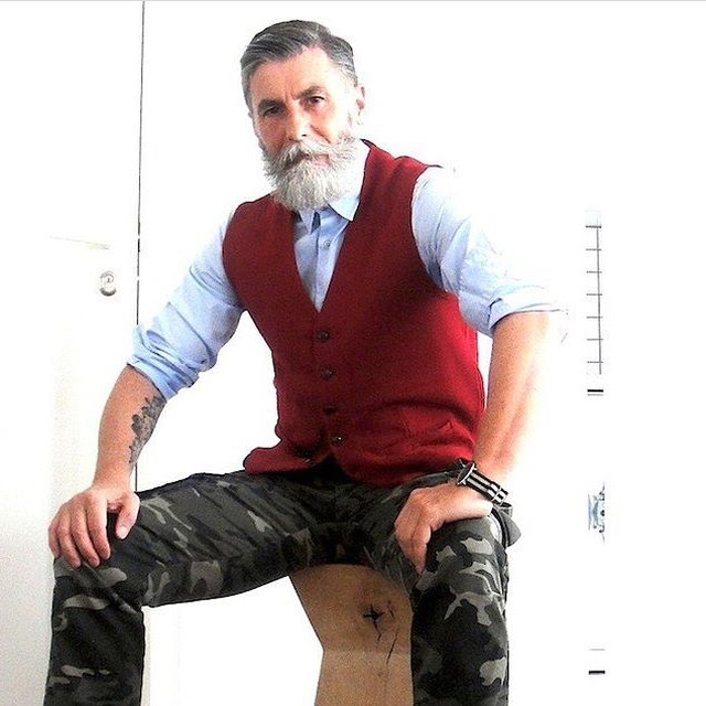 This 60 Year Old Man Grew A Beard And Became A Cool Model