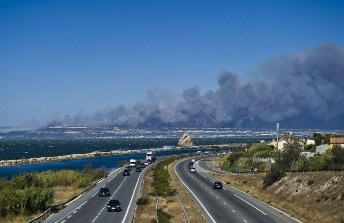Tourists Flee As Wildfires Spread Across France