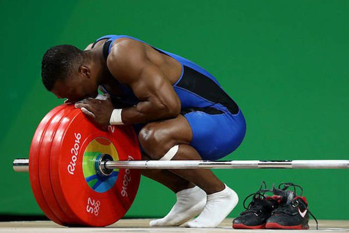Columbian Weightlifter Achieves His Dream By Winning His First Olympic Gold Medal