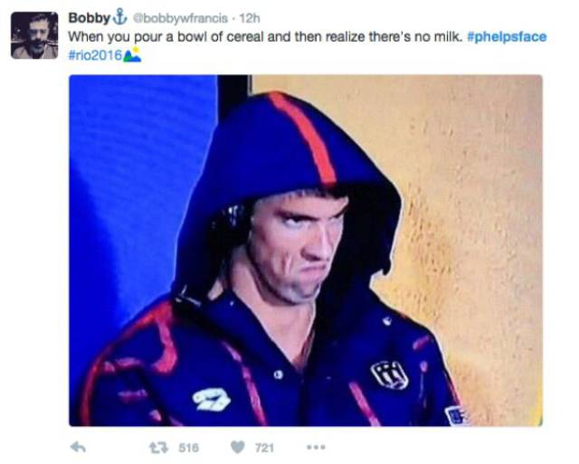 Michael Phelps' Game Face Is The Newest Internet Sensation