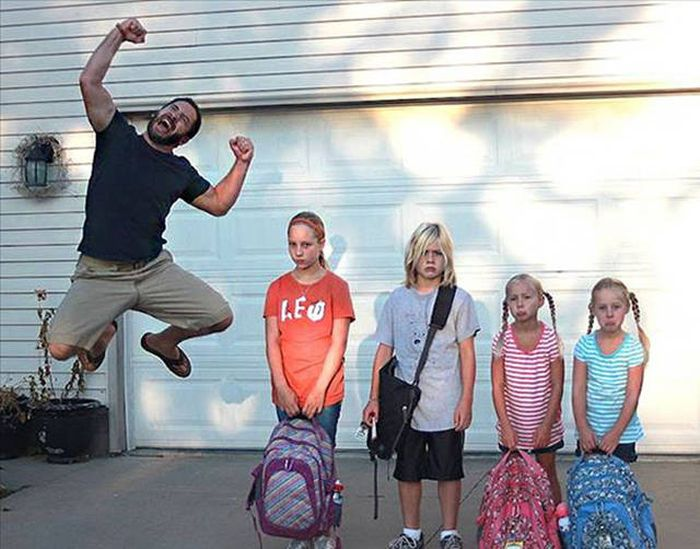 Parents Have Hilarious Reactions To The First Day Of School