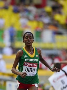 Etenesh Diro Finishes An Olympic Race With Only One Shoe