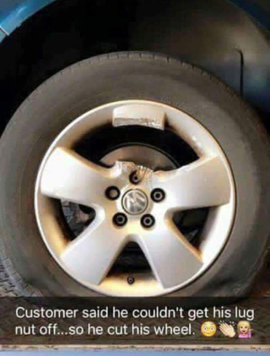 What To Do When The Lug Nut Won't Come Off