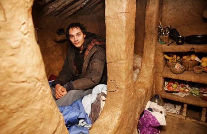 Hermit Gets Kicked Out Of Mud Hut He Built With His Own Hands
