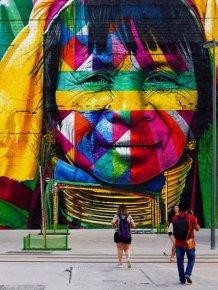 Brazilian Graffiti Artist Creates Breathtaking Mural For The Rio Olympics