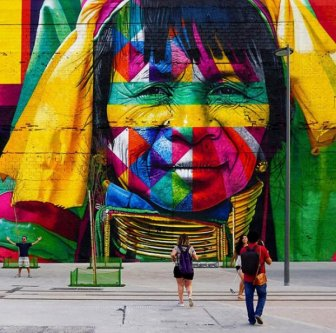 Brazilian Graffiti Artist Creates Breathtaking Mural For The Rio Olympics