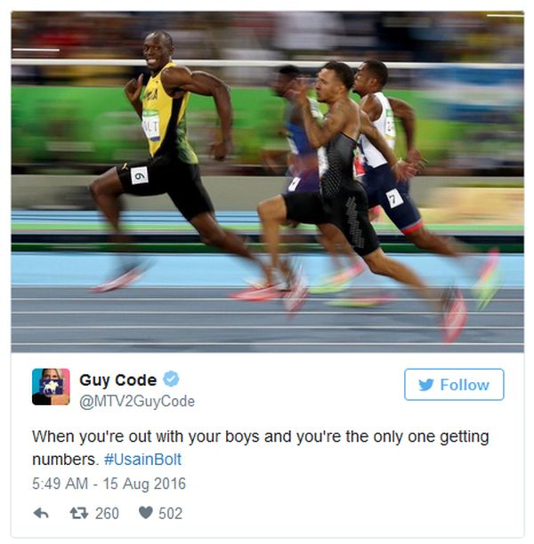 The Funniest Reactions To Smiling Usain Bolt