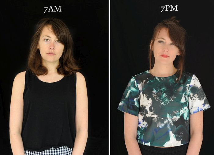 Photo Series Shows What People Look Like At 7am Versus What They Look Like At 7pm