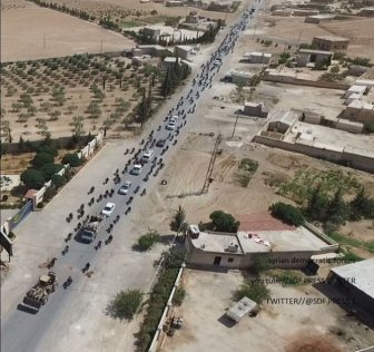 Hundreds Of Isis Cowards Flee Syrian Stronghold Using Civilians As Human Shields To Avoid Being Hit By Coalition Airstrikes