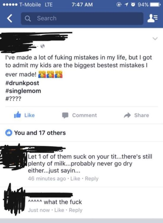 There's Something About Facebook That Trashy People Just Seem To Love