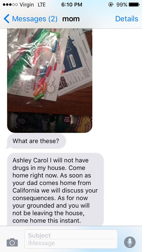 Mom Finds A Suspicious Bag Of Pills In Her Teenage Daughter's Room