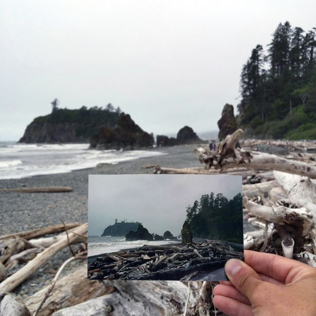 Guy Uses Photographs To Follow In The Footsteps Of His Grandparents