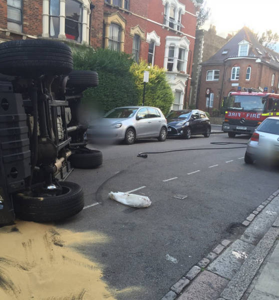 English DJ Flips His Car While Trying To Avoid A Car