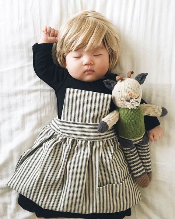 Sleeping Baby Has No Clue She's Secretly A Cosplay Star