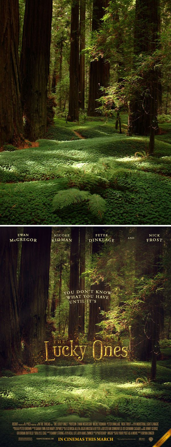 Guy Turns Random People's Photos Into Awesome Movie Posters