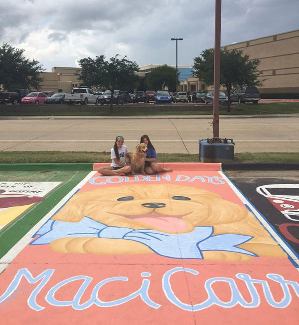 High School Seniors Paint Impressive Art In Their Parking Spots