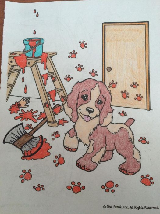 Coloring Book Images That Were Turned Into Something Hilariously Horrifying