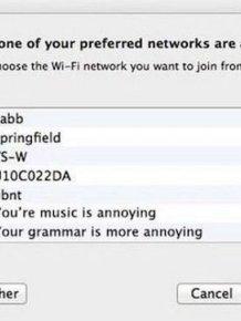 Genius WiFi Network Names Used To Troll The Neighbors