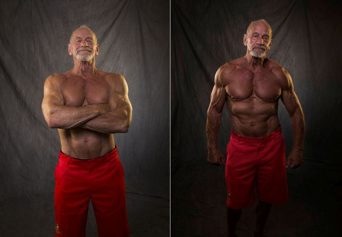Bodybuilder Compares His Body At 40 And 80 Years Old