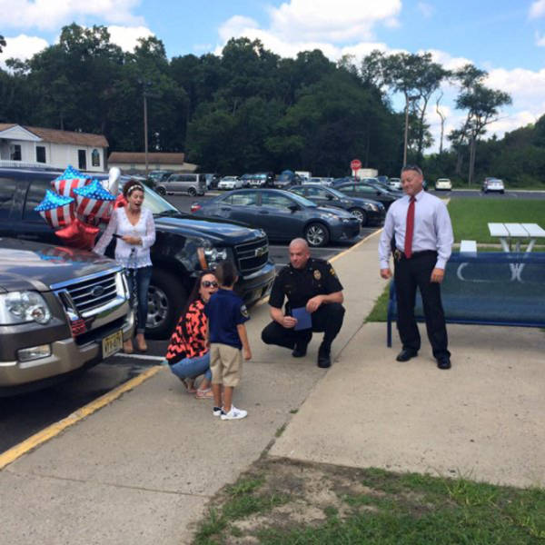 Young Boy Saves Up His Allowance For 5 Months To Surprise Police Officers