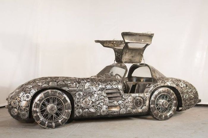 Impressive Car Models Made From Scrap Metal