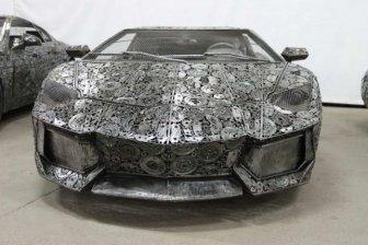 Impressive Car Models Made From Scrap Metal