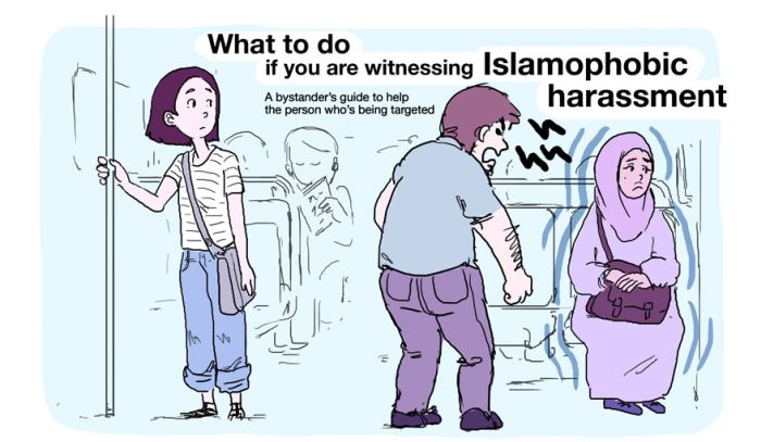 Illustration Shows What To Do When You See Islamophobia