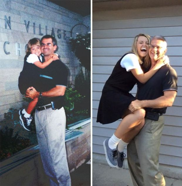Photos From The First Day Of School Compared To The Last Day Of School