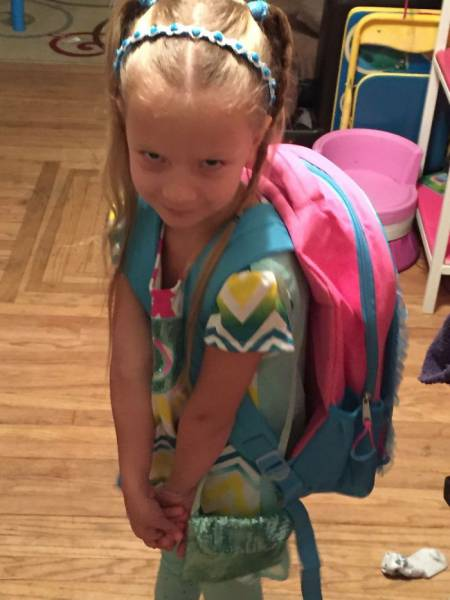 Funny Before And After Pictures Of Kids On Their First Day Of School