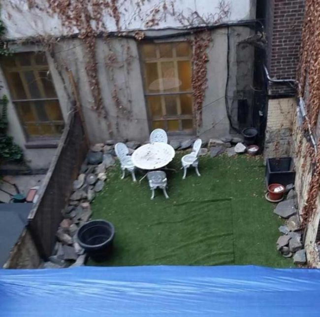 Man Hides New York Living Space Under A Patio